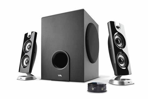 Photo Cyber Acoustics CA-3602 3-Piece Subwoofer and Satellite Speakers - $40 (Commerce, GA)
