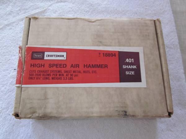 Photo High Speed Air Hammer, SEARS CRAFTSMAN, Vintage tool - $75 (west athens)