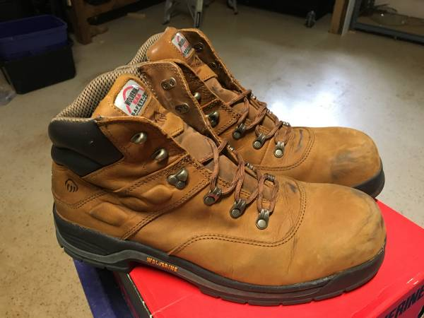 Photo Price Reduced Wolverine Steel toe work boots Size 12 - $40