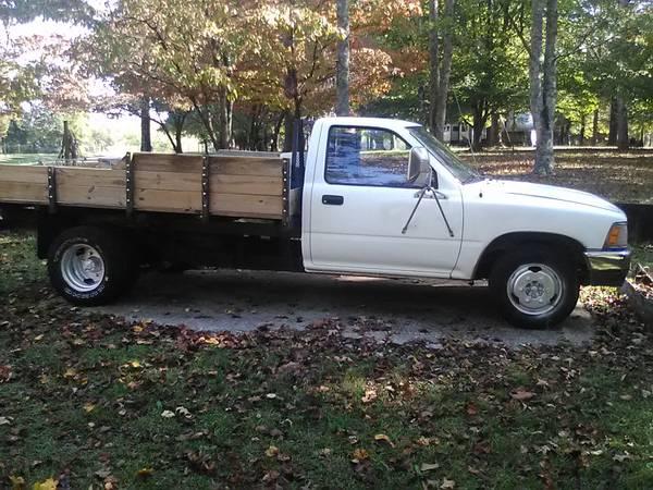Photo RARE 1990 Toyota 1 ton HD suspen dually truck R-22 4 cyc auto 122k - $5,600 (Hwy 29 South-Athens-Madison Co. Georgia)
