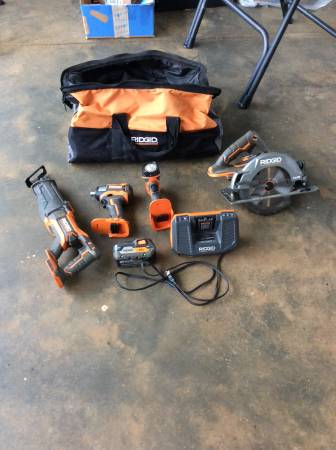 Photo Rigid 18v power tools - $175 (Danielsville)
