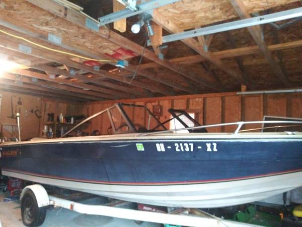 Photo 1839 V haul boat with 115hp Johnson engine - $1,300 (Laurelville, OH.)