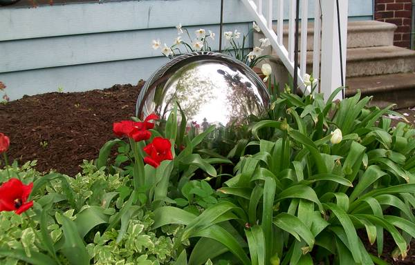 Photo 22quot Diameter Stainless Steel Gazing Ball  $225 OBO (Clinton Township West, in Columbus, OH)