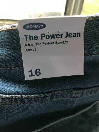 Photo 2 PAIR OF NEW SIZE 16 OLD NAVY JEANS - $30 (GROVE CITY)