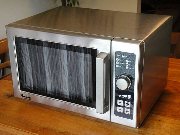 Photo Amana Commercial Microwave (1000 Watt, Stainless Steel) - $250 (North Cols.)