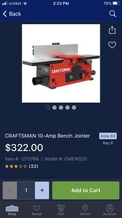 Photo Craftsman bench jointer - $240 (East Columbus)