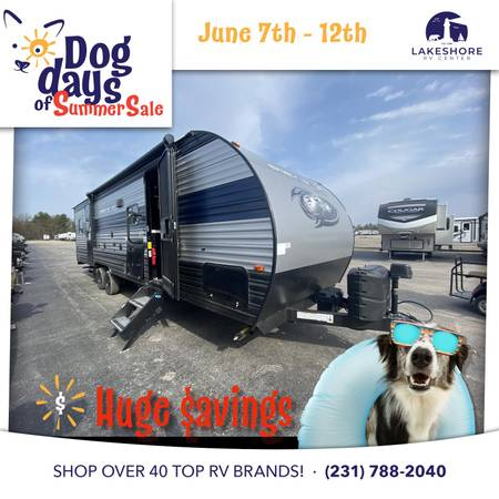 Photo FOREST RIVER GREY WOLF 27RR TOY HAULER TRAVEL TRAILER RV LAST ONE LEFT