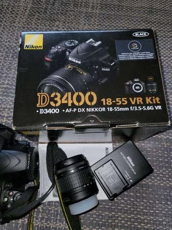 Photo Nikon D3400 18-55 VR Kit - Barely used - $450 (Chesterhill)