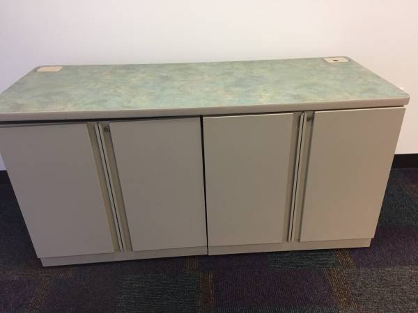 Photo Office cabinet with table top - $120 (Worthington)