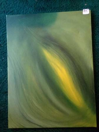 Photo Painting, green 18 X 24 original oil - $55 (Columbus)