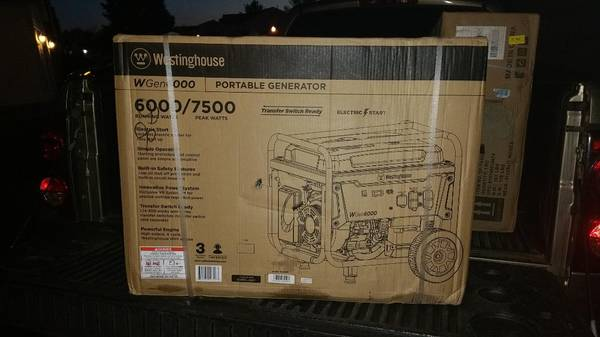 Photo Westinghouse 7500 watt Generator with Electric Start NEW IN BOX - $600 (columbus)