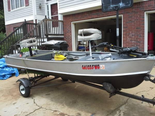 14ft V-Hull Aluminum John Boat - $1500 (Stockbridge) | Boats For