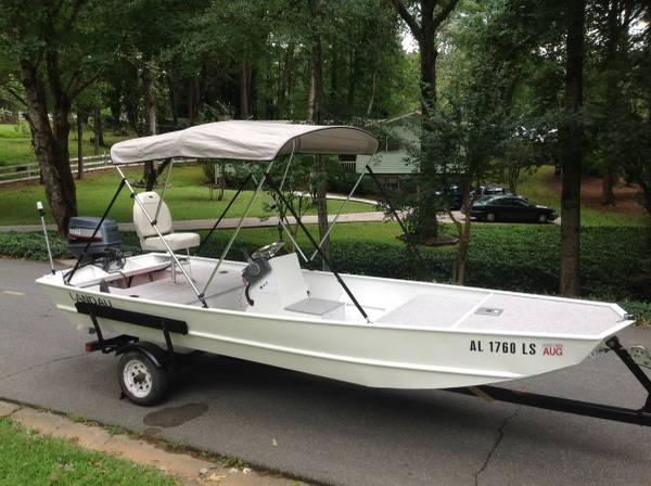 16ft aluminum center console boat, Yamaha 40 HP. Video. (Woodstock