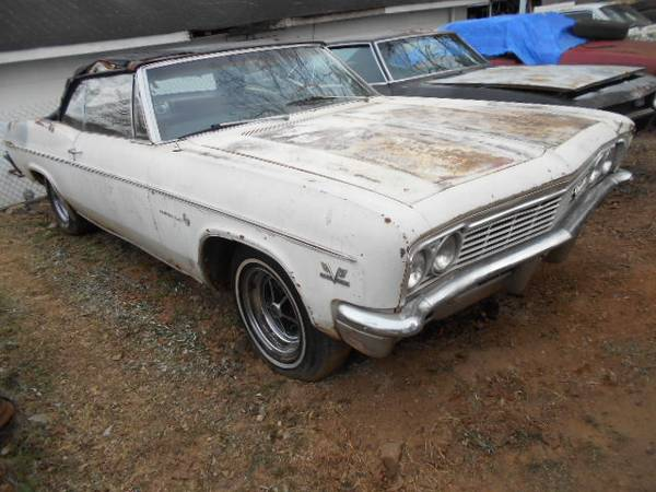 Photo 1966 CHEVY IMPALA convertible 1 owner - $16500 (Cartersville)