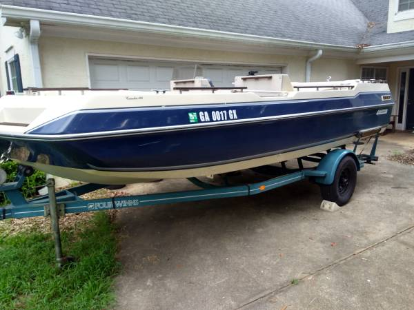 Photo 1986 Four Winns Deck Boat Candia 190 with 170HP mercrusier - $6,950 (Covington)