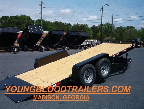 Photo 20 Ft 7 Ton Power Equipment or Car Hauler - $6,495 (Madison,Ga)