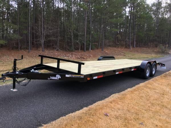 Photo 7ft X 24ft Flatbed Equipment Trailer, Haul Tractor, Plus Your ATV, New - $3,650 (Macon Custom Trailers.com)