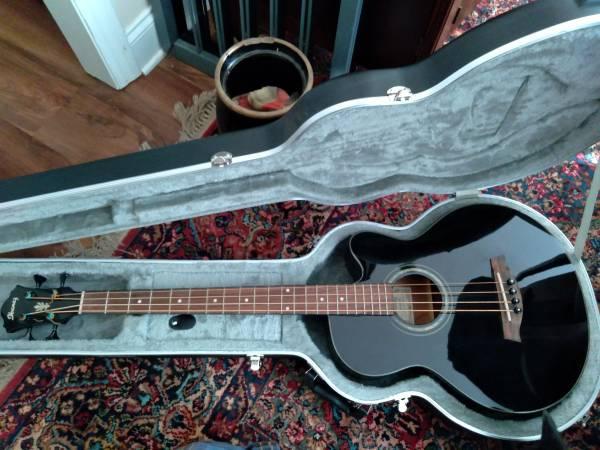 Photo Acoustic Bass Guitar - broken electronics - $50 (Atlanta)