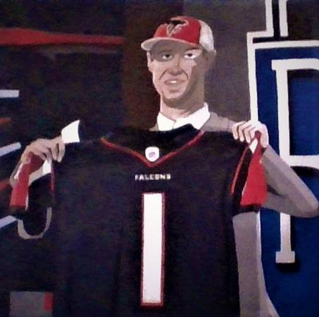 Photo Atlanta Falcons Matt Ryan Painting - $80 (Lawrenceville)