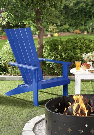 Photo Brand new outdoor patio chair chaise beach chair in blue - $129 (Dunwoody)
