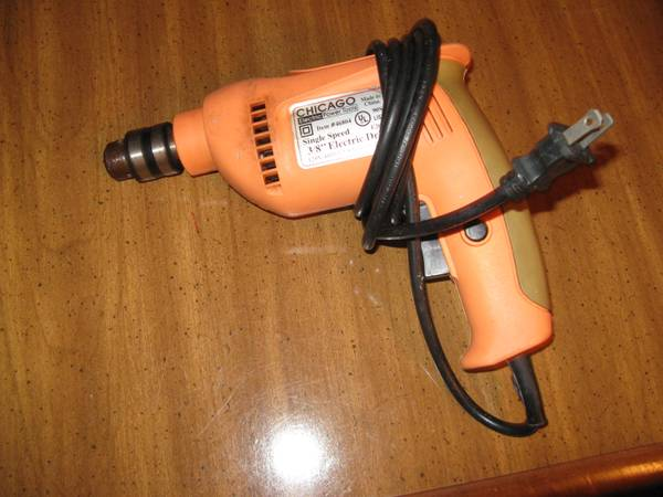 Photo Chicago Electric 38quot Electric Drill - $15 (FayettevillePeachtree CityTyrone)