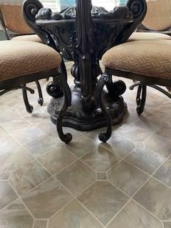 Photo Kitchen Table, Chairs and Storage Unit - $800 (Stockbridge)