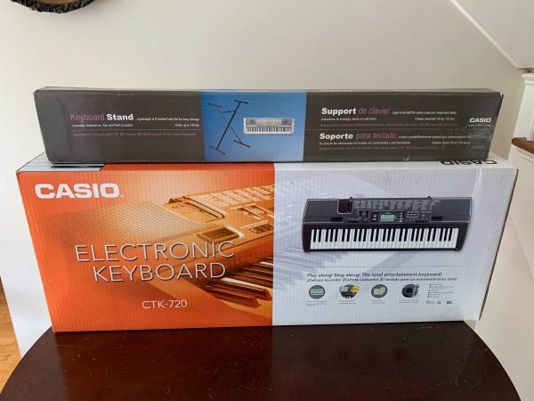 Photo New In Box Casio CTK-720 61 Key Musical Keyboard  Stand - $125 (lawrenceville)