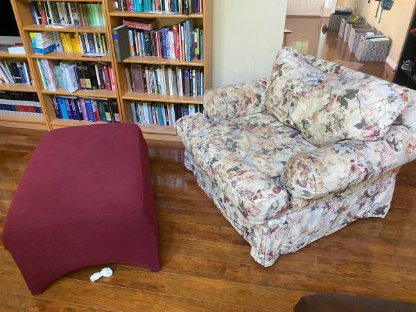 Photo Oversized Armchair with Ottoman (Buford)