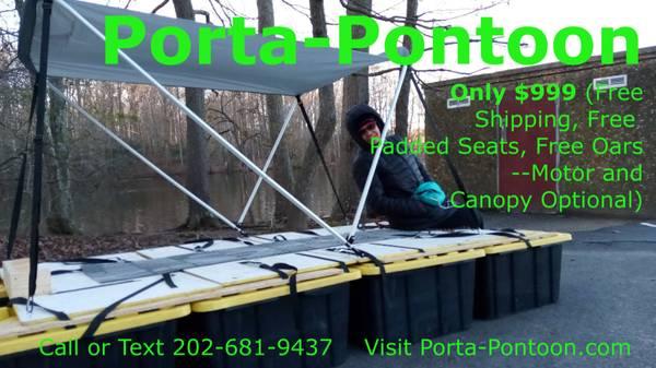 Photo Porta-Pontoon Pontoon Boat Portable Folding FREE Shipping SEE VIDEOS - $999 (Washington)