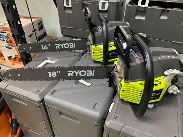 Photo RYOBI 16quot  18quot RYOBI GAS CHAINSAWS - 16quot- $60  18quot - $80 - USED GOOD - $60 (Marietta)