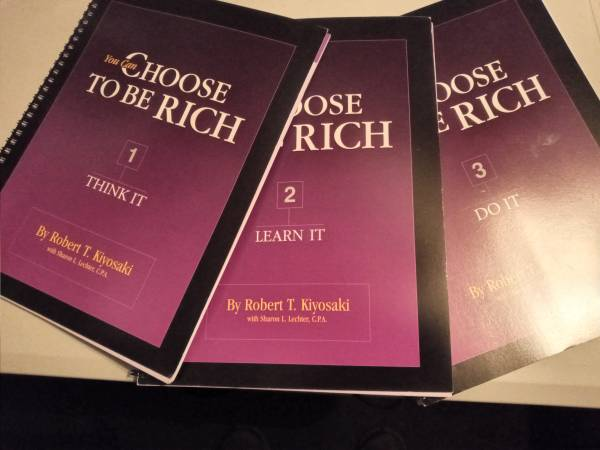 Photo Rich Dad - You Can Choose to Be Rich Workbook Set - $10 (Decatur)