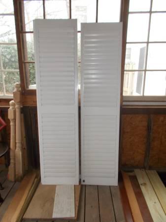 Photo TWO INTERIOR DOOR SHUTTERS- - $20 (Woodstock-Kingston Square)