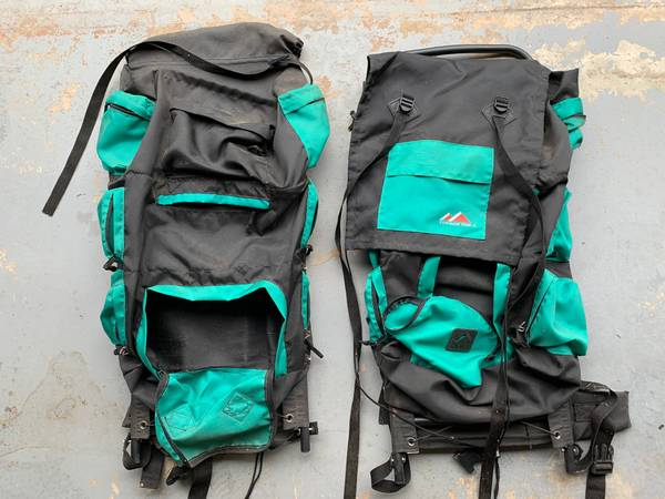 Photo Timber Top Aluminum Frame Backpack two each - $20 (Peachtree City)