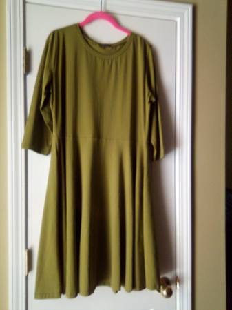 Photo Two Olive A-Line Dresses - $8 (Winder)