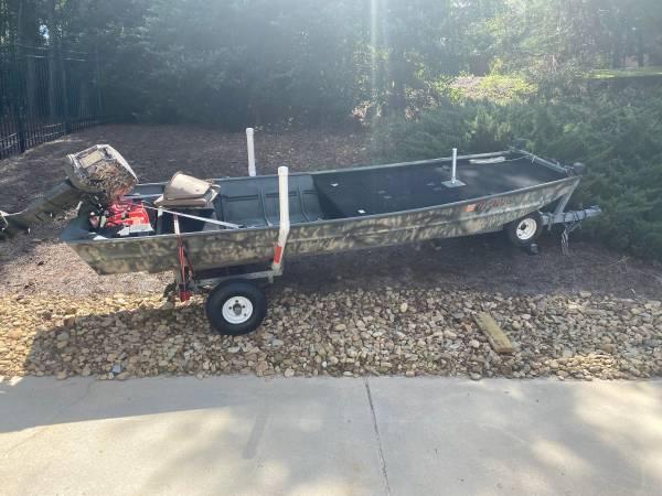 Photo 14 ft Jon Boat 25hp johnson - $2,250 (Augusta)