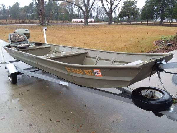 14ft Jon Boat / Trailer / Motor - $1350 (Ehrhardt) | Boats For