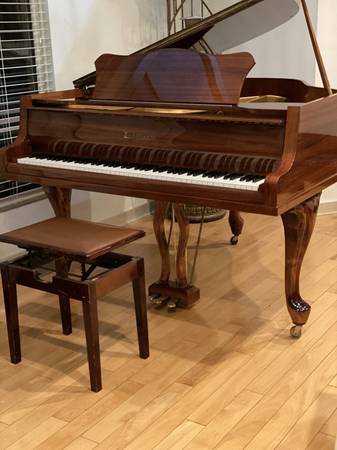 Photo GERMAN-MADE ZIMMERMANN BABY GRAND PIANO in MINT CONDITION FREE DEL - $4,500 (Atlanta  Free Delivery)
