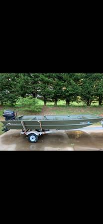 Photo Jon boat with 25hp motor and trailer - $3,500 (Pelzer)