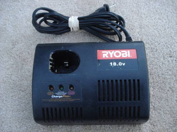 Photo Ryobi 18V ChargePlus Class 2 NiCd Battery Charger Model 1423701 - $7 (Martinez)
