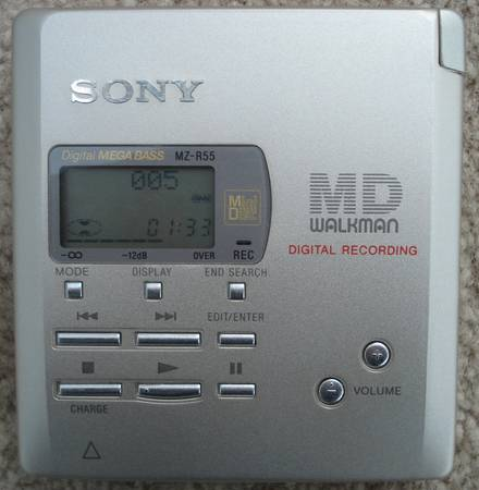 Photo SONY MZ-R55 MD Walkman MiniDisc Player Recorder. I trade up - $50 (Martinez)
