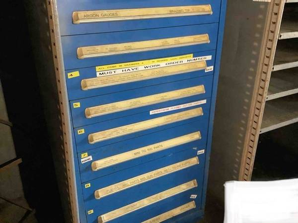 Photo Used Vidmar 10 Drawer Tool and Parts Cabinet - $600 (Trenton SC)