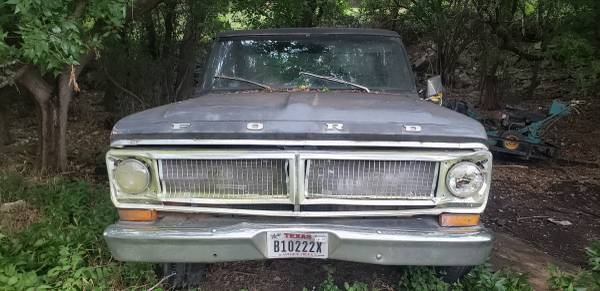 Photo 1970 Ford f 100 truck - $550 (lakeway)