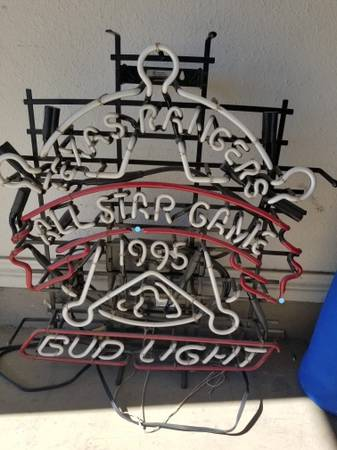 Photo 1995 All Star Game Texas Rangers - Bud Light Neon Sign - $50 (Round Rock)