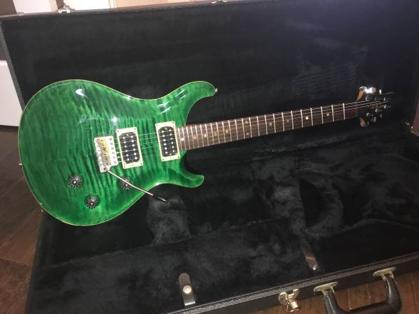Photo 1998 PRS Classic Electric USA Flame Maple Top Emerald Green with Case - $1,800 (Cedar Park)