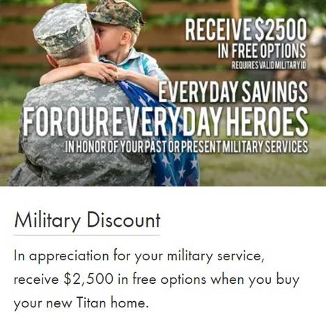 Photo Additional Options on New Titan Mobile Homes for Military (Free Delivery Free Setup)