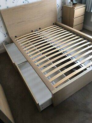 Photo BeautifuI IKEA Malm Queen Bed Frame W2 Drawers EXCELLENT Condition - $180 (Austin)
