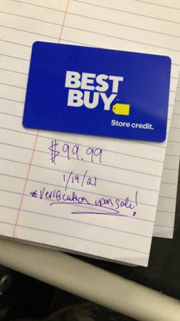 Photo Best Buy Gift Card  Store Credit with $100 balance - $85 (Austin)