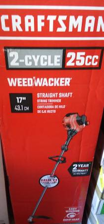 Photo CRAFTSMAN WS210 25cc 2Cycle 17-in Straight Shaft Gas String Trimmer - $105 (Airport f1)