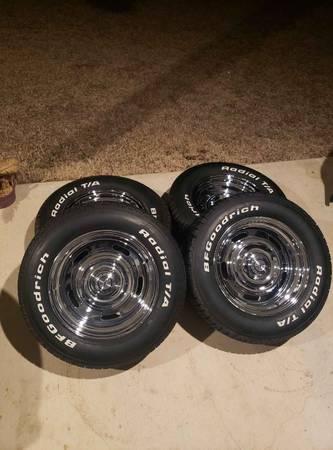 Photo Chevy Rally Wheels 15 inch bf goodrich - $1,000