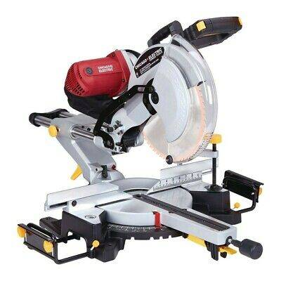Photo Chicago Electric 12in Sliding Compound Miter Saw - $120 (Austin)